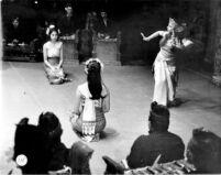 3 female dancers performing the Ramayana