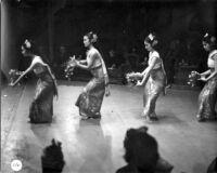 4 female dancers performing the Ramayana