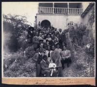 Cast of the musical Carmen Jones at George Garner's residence, Pasadena, 1950s