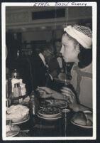 Ethel (Sissle) Gordon at a restaurant, 1940s