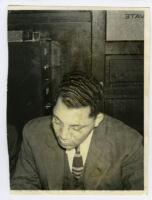 Attorney Walter L. Gordon, Jr. in his law office, Los Angeles, 1940s