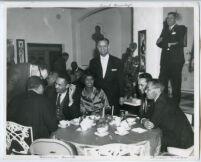 Birthday Party for attorney Curtis Taylor, at the Broady residence, Beverly Hills, 1965