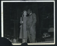 Alyce Key and Count Basie on stage, Los Angeles, 1940s