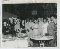 Garden party in Los Angeles, circa 1950