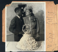 Wedding reception for Bernyce and Leon Smith in Los Angeles, 1940s