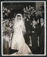 Wedding of Jackie Robinson to Rachel (Isum) Robinson, Los Angeles, 1946
