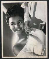 African American singer Madeline Green (headshot), taken in Chicago, 1940s