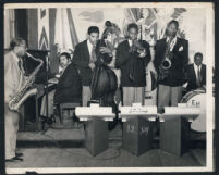J. D. King and his band, Los Angeles, 1940s