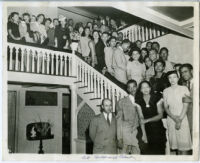 Gathering at the Wilfandel Club in the West Adams district, Los Angeles, 1940s