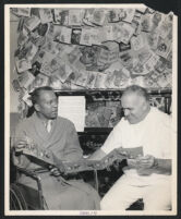 Andy Razaf and his caretaker, Los Angeles, 1950s
