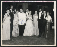 Individuals at a formal gathering, Los Angeles 1940s