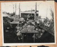 Children's birthday party in a garden, Los Angeles, 1940s
