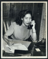 Melba Foppe at work, Los Angeles, 1940s