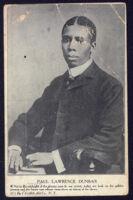 Postcard of poet Paul Lawrence [i.e. Laurence] Dunbar, circa 1905