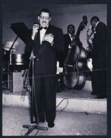 Walter L. Gordon, Jr., as master of ceremonies, Los Angeles, 1940s