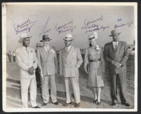 George Ramsey, Al Ramsey, Dorothy Dandridge, and Eddie Burbidge, Tijuana, Mexico, 1947