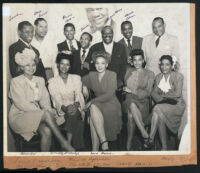 Gathering of African American entertainers, Los Angeles, 1940s