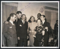 International Film and Radio Guild (IFRG) fetes journalists, Los Angeles, Feb. 22, 1946.