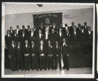 Omega Psi Phi Fraternity gathering, Los Angeles, 1940s