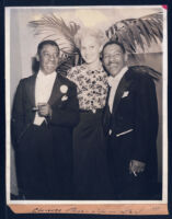 Actor Clarence Muse with his wife, Willabelle, and son, Dion, Los Angeles, 1940s