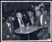 African American media figures, Los Angeles, 1940s