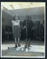 Ethel (Sissle) Gordon and Louise Beavers at a women's club event, Los Angeles, 1940s