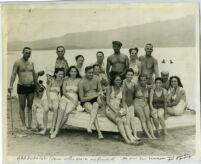 Relaxing at Lake Elsinore, Riverside County, 1940s?