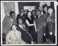 African American actors, Los Angeles, 1940s