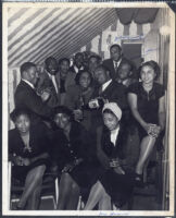Group photograph at a nightclub, Los Angeles, 1940s