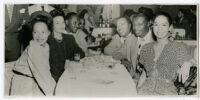 Elmer Fain, Les Hite, Nat King Cole and Maria Cole, New York City, 1947