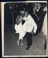 Hazel Moreland dancing with Billy Rowe at a formal, Los Angeles, 1940s