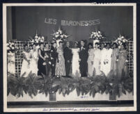 Master of ceremonies Walter L. Gordon, Jr. at Les Baronesses event, Los Angeles, 1940s