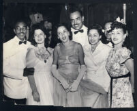 Black tie event in Los Angeles, 1940s