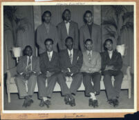 Alpha Phi Alpha fraternity members and pledges, Los Angeles, 1940s