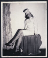 Unidentified woman posing, Los Angeles, 1940s