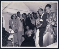 Eddie Deason and others, Los Angeles, 1940s
