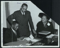 William Pickens and Noble Sissle, New York, 1940s