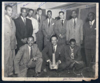 Group of men from Alpha Phi Alpha fraternity, Los Angeles 1940s