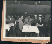 Group seated at the Last Chance cafe, Los Angeles 1940s