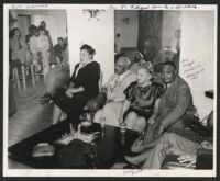 Gathering at Walter L. Gordon's home, Los Angeles 1940s