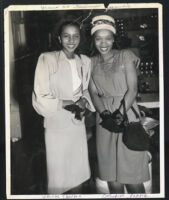 Yvonne Shelton and Katherine Alexander, Los Angeles, 1940s