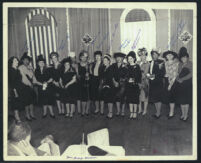 Group of well-dressed women, Los Angeles, 1940s