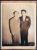 Al Jarvis and Frank Sinatra in Los Angeles, 1940s