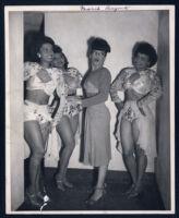 Dancer Marie Bryant and three unidentified chorus girls, Los Angeles, 1940s
