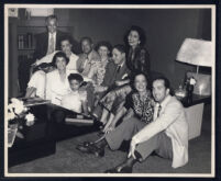 At home with friends, Los Angeles, 1950s