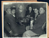 Wesley and Elizabeth Profit out on the town, Los Angeles, 1940s