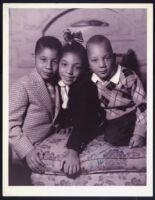Walter L. Gordon, Jr.'s three children, Los Angeles, 1940s
