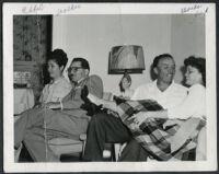 Ethel (Sissle) Gordon, Walter L. Gordon, Jr., Robert Clark, and Anise Boyer, Los Angeles, 1940s
