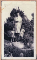 Ethel (Sissle) Gordon with her children Noble and Cynthia, Los Angeles, 1940s