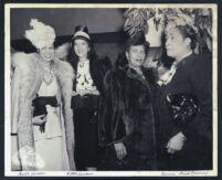 Anne Wheeler, Ellen Cussman (or Kussman), Dorothy Irene Height and Bessie Gant, Los Angeles, 1940s